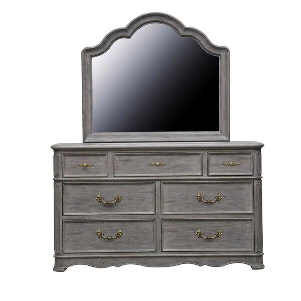 Yasmine 7 Drawer Double Dresser with Mirror by Rosdorf Park