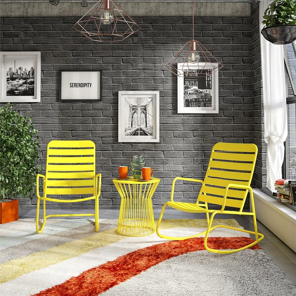 Roberta Outdoor 3 Piece Seating Group by Novogratz Novogratz