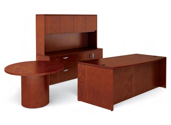 Ventnor 4-Piece Standard Desk Office Suite by Offices To Go