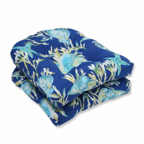 Daytrip Indoor/Outdoor Dining Chair Cushion (Set of 2) by Pillow Perfect