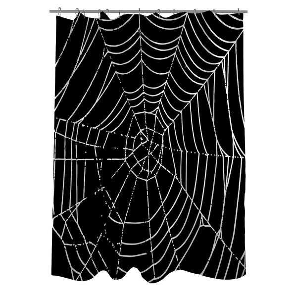 All Over Spider Webs Shower Curtain by One Bella Casa