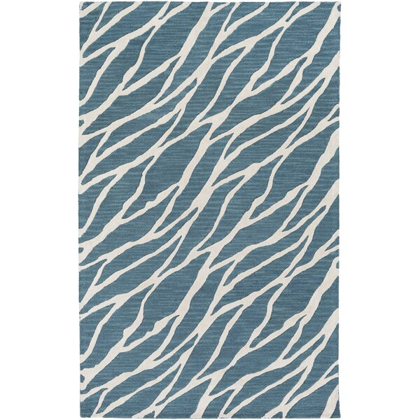 Blewett Hand-Tufted Blue/Ivory Area Rug by Wrought Studio