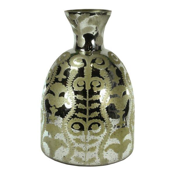 Canonbury Metallic Glass Floor Vase by World Menagerie