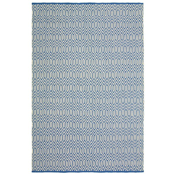Johnstown Inside-Out Hand-Woven Blue Indoor/Outdoor Area Rug by Brayden Studio