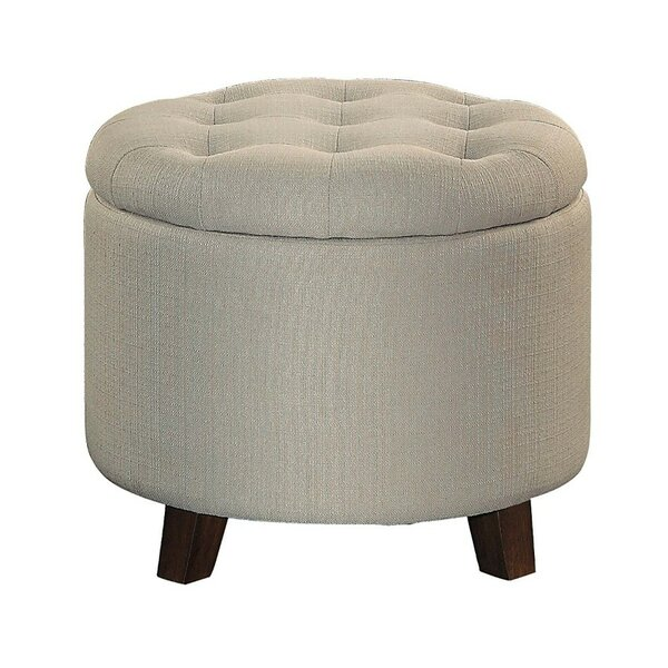Jered Button Tufted Ottoman by Charlton Home