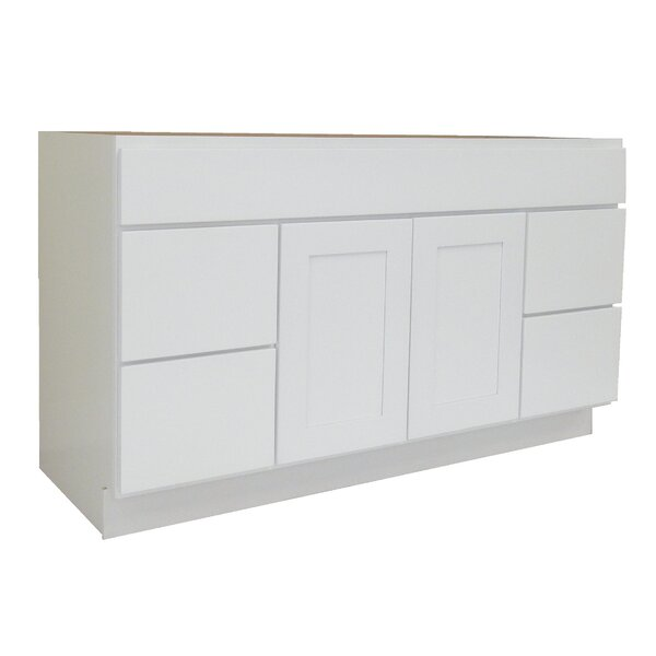 Shaker Cabinet 48 Single Bathroom Vanity Base by NGY Stone & Cabinet