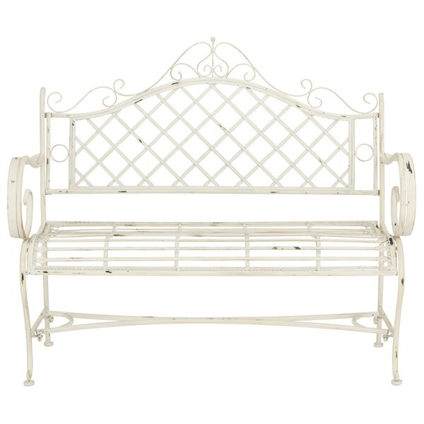 Hornellsville Wrought Iron Bench by Ophelia & Co.