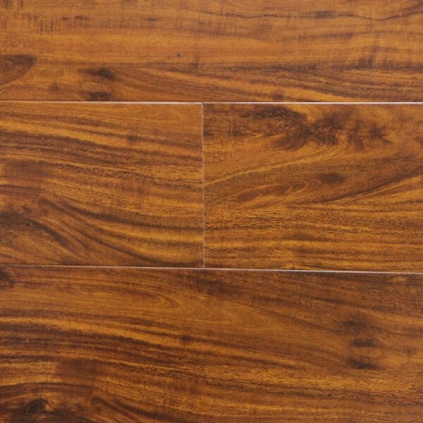 6 x 48 x 12.3mm Laminate Flooring in Golden Walnut (Set of 22) by Serradon