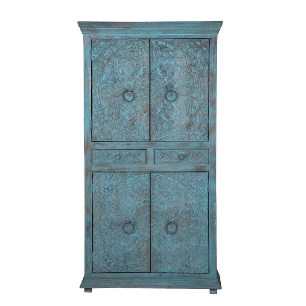 Teo High Armoire by Bungalow Rose