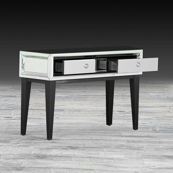 Everly Quinn Black Console Tables