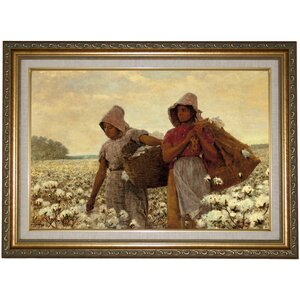 'The Cotton Pickers 1876' by Winslow Homer Framed Print on Canvas by Historic Art Gallery