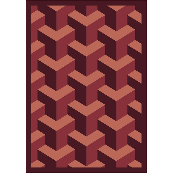 Burgundy Area Rug by The Conestoga Trading Co.