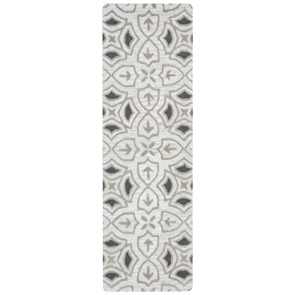 Winona Hand-Tufted Gray Area Rug by Charlton Home