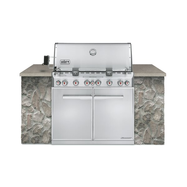 Summit® S-660™ 6-Burner Built-In Natural Gas Grill with Smoker by Weber