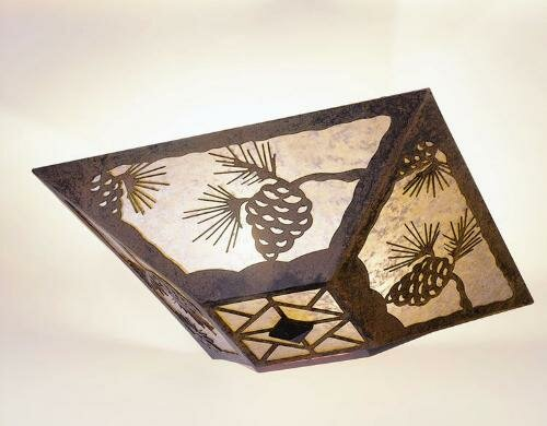 Pinecone Drop 2-Light Flush Mount by Steel Partners