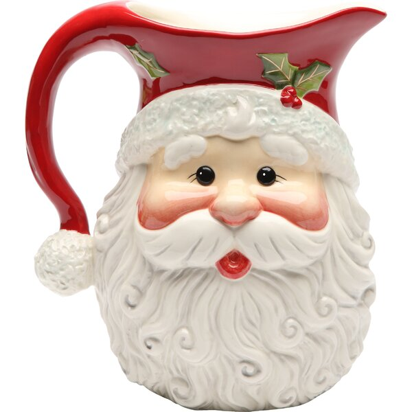 Santa Pitcher by The Holiday Aisle