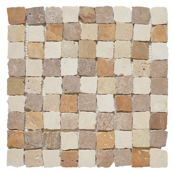 Rabat Barrio 1.25 x 1.25 Marble Mosaic Tile in White/Yellow by Matrix Stone USA