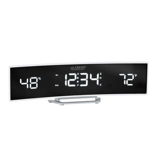 Technology Curved Tabletop Clock by La Crosse Technology
