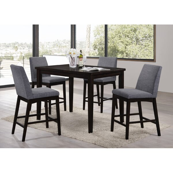 Greenbank 5 Piece Bar Height Dining Set by Ivy Bronx
