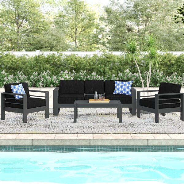 Royalston 4 Piece Sofa Seating Group with Cushions by Brayden Studio