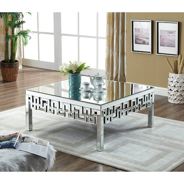 Luong Mirrored Coffee Table by Everly Quinn Everly Quinn
