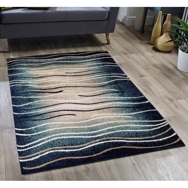 Harut Striped Tufted Blue Indoor / Outdoor Area Rug