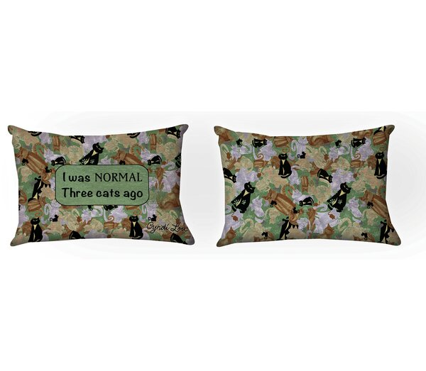 Camo Cat Lumbar Pillow by Manual Woodworkers & Weavers