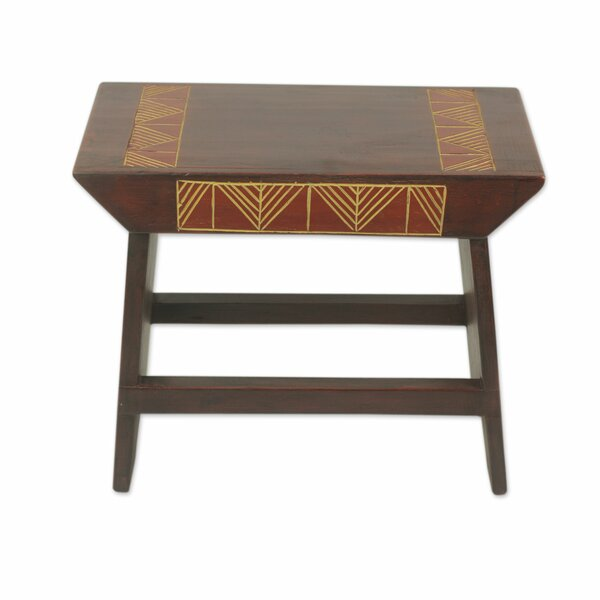 McHenry Wood Accent Stool by Bloomsbury Market