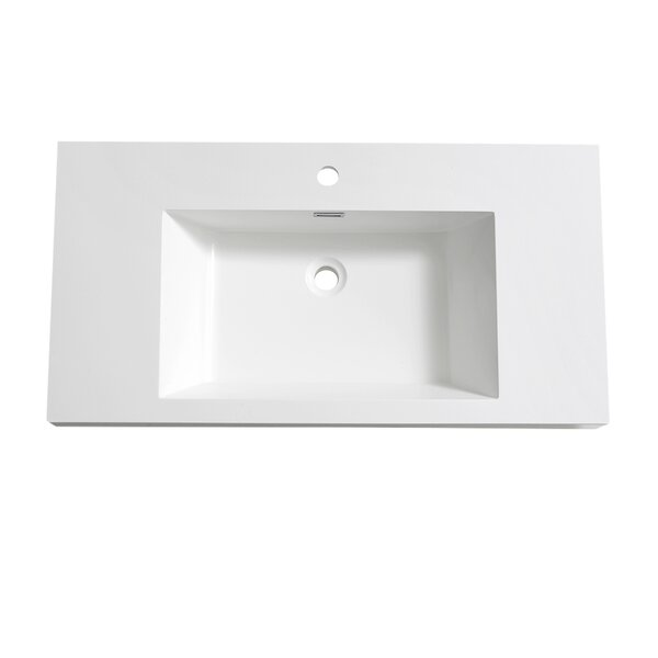 Senza Valencia 40 Rectangular Drop-In Bathroom Sink with Overflow by Fresca