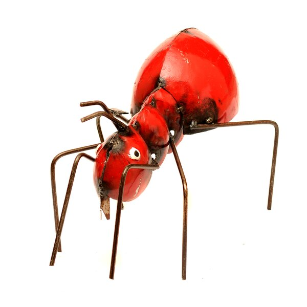 Small Red Ant Statue by Rustic Arrow