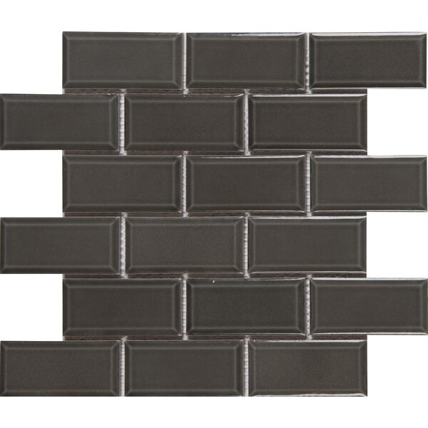 Charcoal Bevel 2 x 4 Ceramic Subway Tile  in Gray by MSI