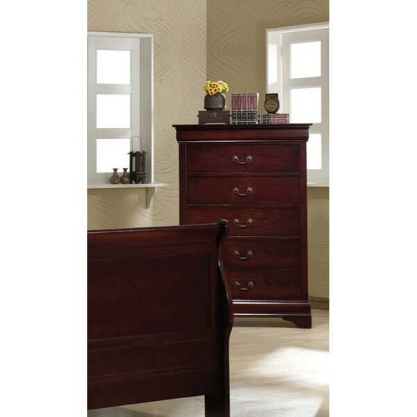 Doiron Wooden 5 Drawer Chest by Charlton Home