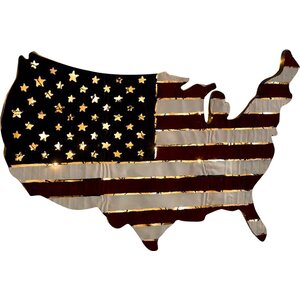 Lighted Americana Flag Art Wall Décor by Plow & Hearth