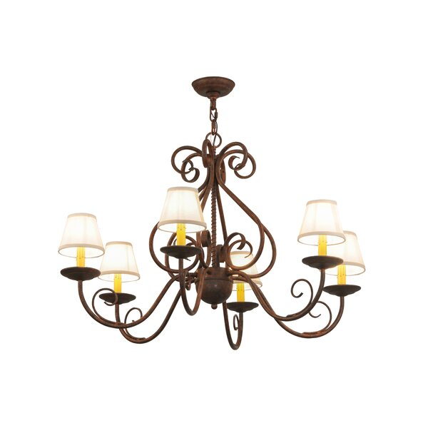 Veronika 6 - Light Shaded Classic / Traditional Chandelier By Fleur De Lis Living