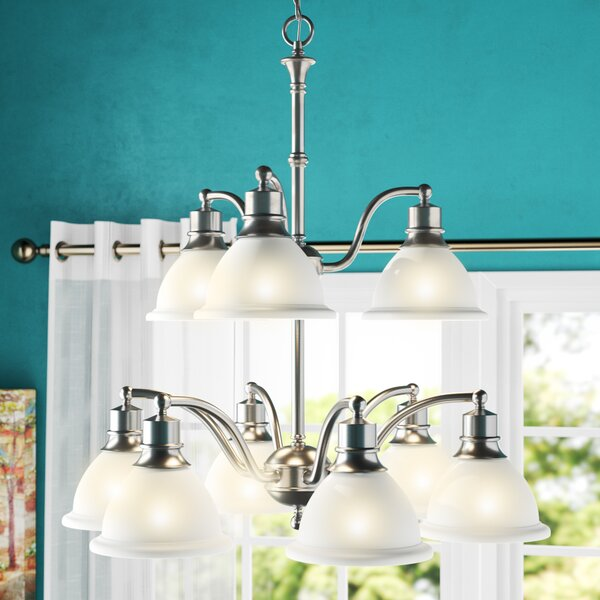 Vangorder 9 - Light Shaded Tiered Chandelier By Charlton Home