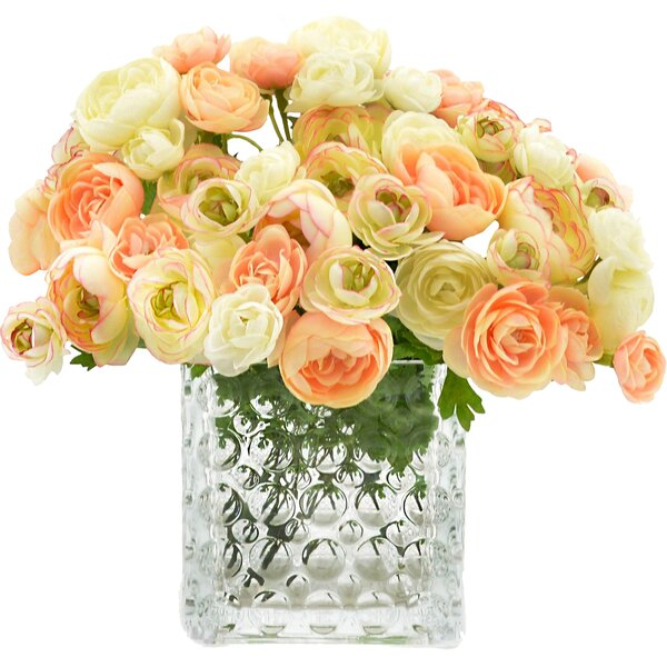 Cream/Peach Ranunculus Bouquet by One Allium Way