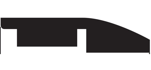 Tatum 0.5 x 1.75 x 94.5 Overlap Reducer in Clapboard by Serradon