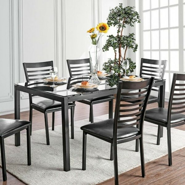Mitchell Contemporary 5 Piece Solid Wood Dining Set by Winston Porter