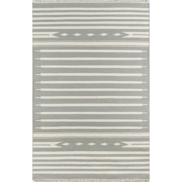 Thompson Billings Hand-Woven Wool Gray Area Rug by Erin Gates by Momeni
