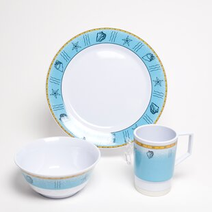 Online Reviews Decorated Offshore Melamine 12 Piece Dinnerware Set, Service for 4 By Galleyware Company