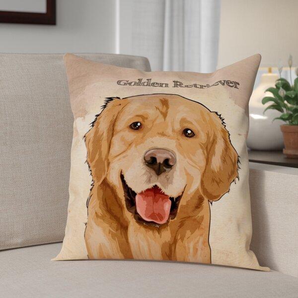 Crispin Golden Retreiver Throw Pillow by Red Barrel Studio