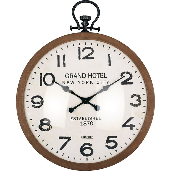 Oversized Lola Industrial 36.25 Wall Clock by Millwood Pines