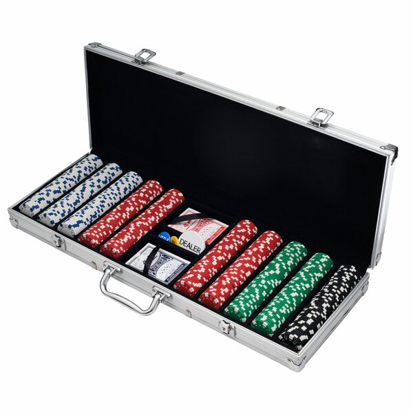 500 Piece Dice Poker Chip Set by Trademark Global