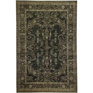 Best Choices One-of-a-Kind Marquis Handwoven 11'10 x 17'11 Wool Green/Black Area Rug ByBokara Rug Co., Inc.