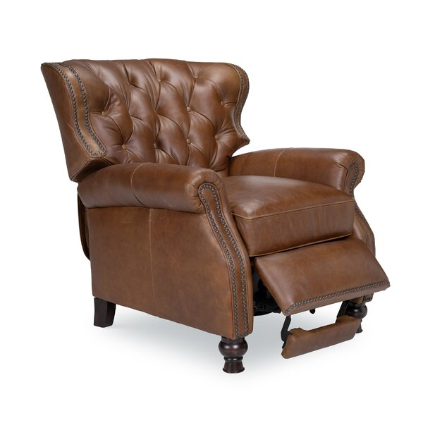 Lenihan Leather Manual Recliner by Laurel Foundry