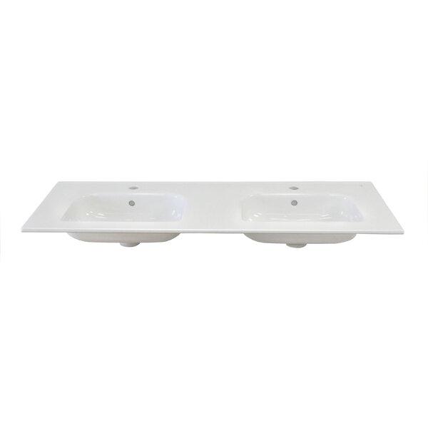 Ceramic 48 Double Bathroom Vanity Top by Dawn USA