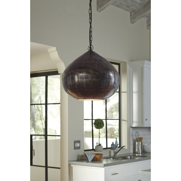 Angolemi 1-Light Globe Pendant by Bay Isle Home