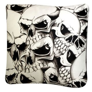 Rectangle Skulls Dog Pillow by Dogzzzz