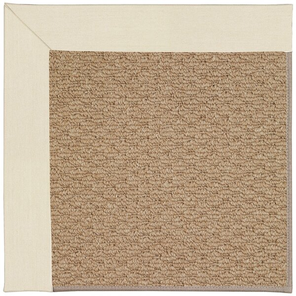 Lisle Machine Tufted Sandy/Brown Indoor/Outdoor Area Rug by Longshore Tides