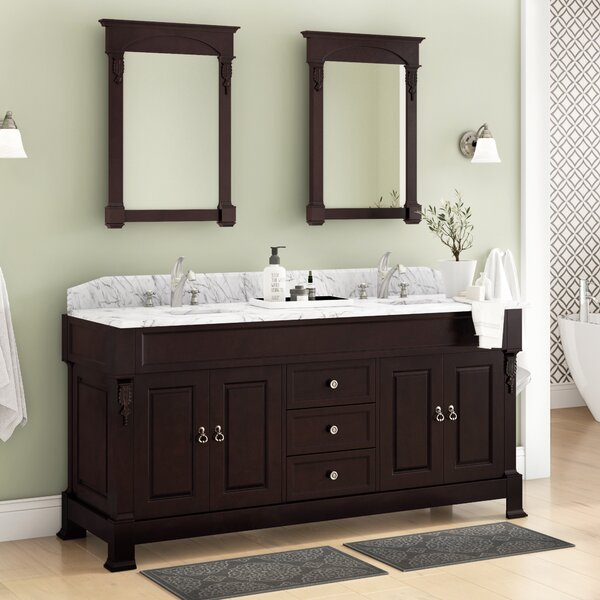 St. Charles 71 Double Bathroom Vanity Set with Mirror